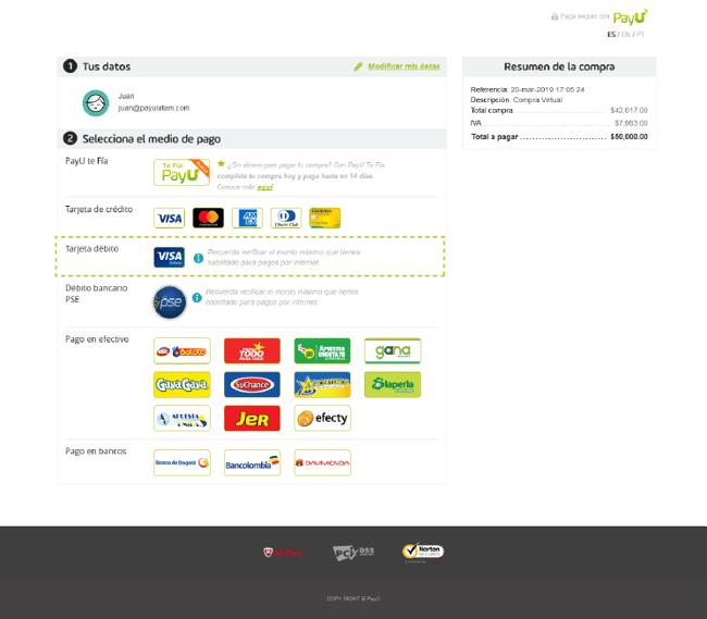 módulo de pago WebCheckOut