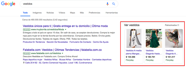 ventas por Google Shopping